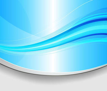 Curvy Cutting Edge Blue Waves Background - Free vector #165913