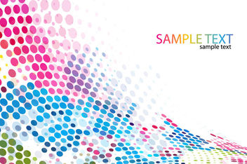Colorful Halftone Dotted Pixilated Background - Free vector #165923
