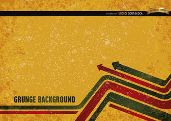 Yellow grunge background with modern arrows - vector #166123 gratis