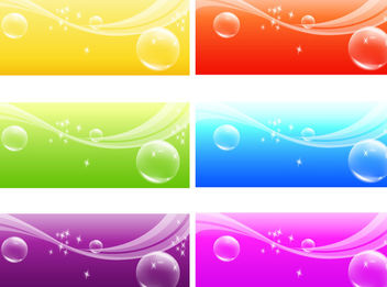 Fresh Background with Bubbles & Waves - vector gratuit #166163