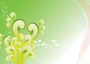 Green Swirls and Splashes Background - vector gratuit #166203