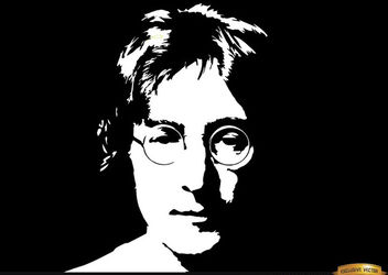 John Lennon face portrait background - Free vector #166473