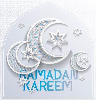 Stunning Crescent Moons Ramadan Typography - Free vector #166493