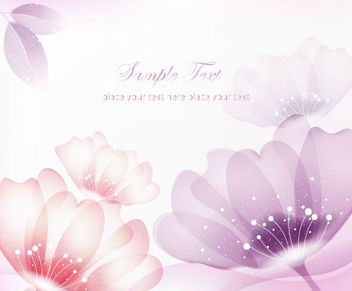Abstract Red & Purple Flowers Background - Free vector #166563