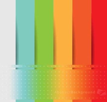 Rainbow Paper Cut Background with Dots - vector gratuit #166573
