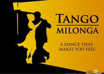 Tango Milonga dancing background - vector gratuit #166613