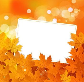 Autumn Maple Leaves Background with Banner - vector gratuit #166653