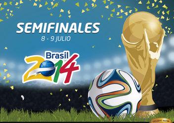 Semifinales Brasil 2014 Promo - Free vector #166773