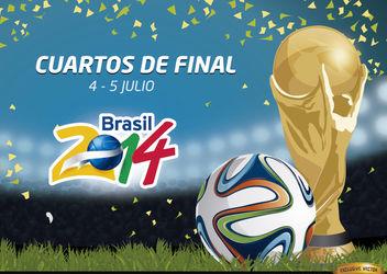 Cuartos de Final Brasil 2014 Promo - Kostenloses vector #166783