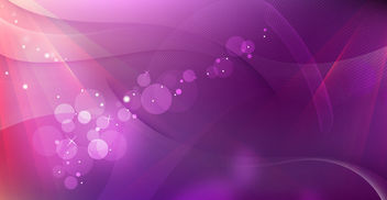 Abstract Purple Waves Background with Bokeh - Free vector #166833