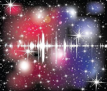 Abstract Colorful Starry Cosmos Sound Wave Background - Free vector #167083