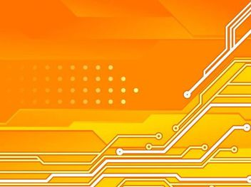 Circuit Board Orange Tech Background - vector gratuit #167183