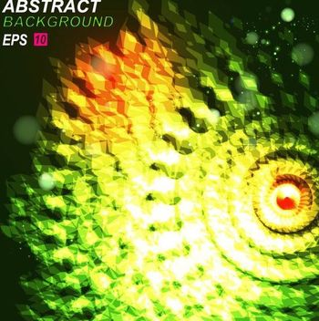 Green Light Abstract Swirling Background - бесплатный vector #167263