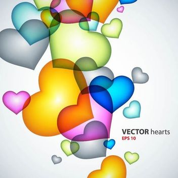 Fluorescent Colorful Heart Background - Kostenloses vector #167333