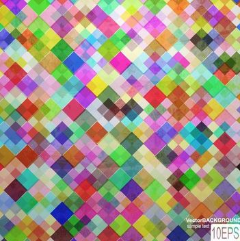 Colorful Tiled Pattern Background - vector #167353 gratis