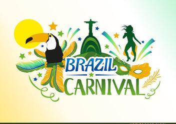 Brazil Carnival Design - Free vector #167683