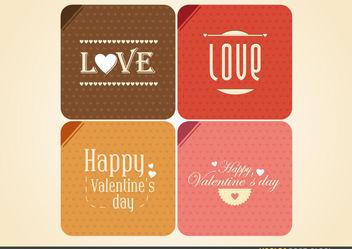 Vintage Valentine's Lettering - vector gratuit #167693