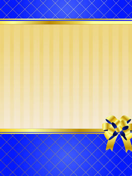 Blue & Golden Blank Invitation Card - Kostenloses vector #167853