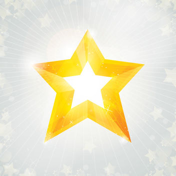 Christmas Star on Sunlight Background - Free vector #167863