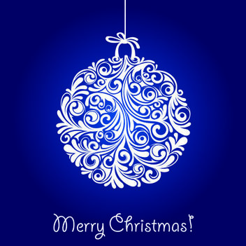 Decorative Floral Christmas Ball - Free vector #167873