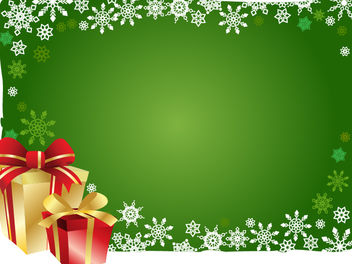 Christmas Background with Gift Boxes - vector gratuit #167903