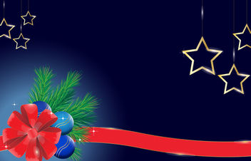 Xmas Background with Shiny Ornaments - Free vector #167933