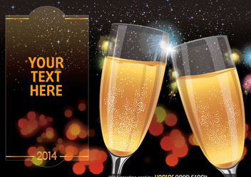 2014 Toast Greeting Card - Free vector #167963