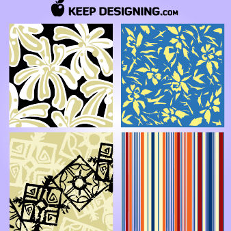 Four Season Sketchy Looking Wallpaper - vector gratuit #167993