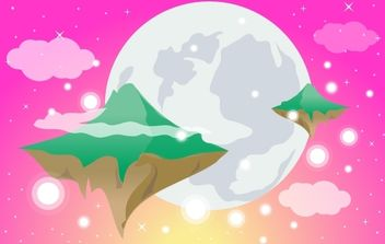 Dreamy World with Flying Islands - Kostenloses vector #168033