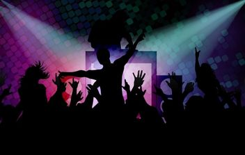Disco Background with Happy Peoples - Free vector #168133