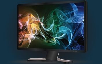 Wide Black LCD Monitor - vector gratuit #168183