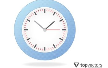 Realistic Simple Analog Wall Clock - бесплатный vector #168223