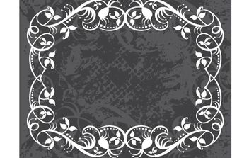 Grungy Swirl Floral Frame Layout - Free vector #168243