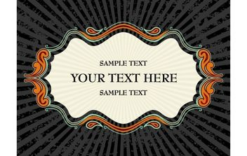Vintage Invitation Card Layout Design - Free vector #168263