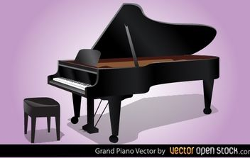 Grand Piano Vector - vector gratuit #168353