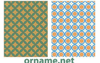 Two Vector Egyptian Patterns - Free vector #168423