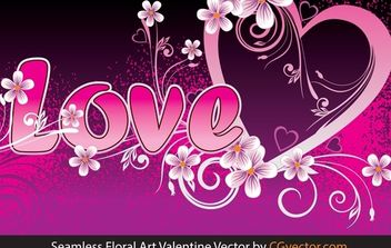 seamless floral art Valentine Vector - Kostenloses vector #168433