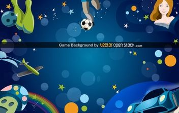 Game Background - vector gratuit #168483