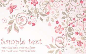 Pink Floral Background - Free vector #168673