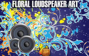Vector Free Floral Loudspeaker BG Art - Free vector #168683