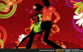 Salsa Dancing - vector gratuit #168693