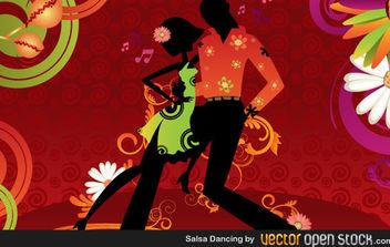 Salsa Dancing - Free vector #168693