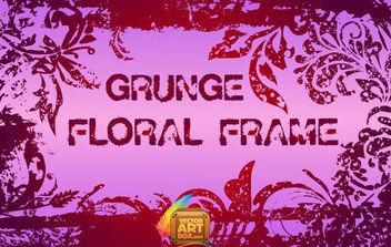 Grunge Floral Frame - Free vector #168773