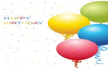 Vector Birthday Template - Free vector #168943
