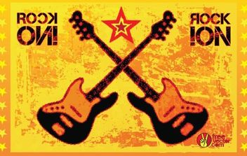 Rock Guitars Vector - Free vector #168963