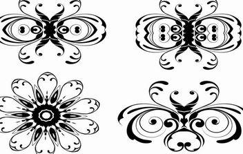 Floral Ornaments Vector - Kostenloses vector #169133