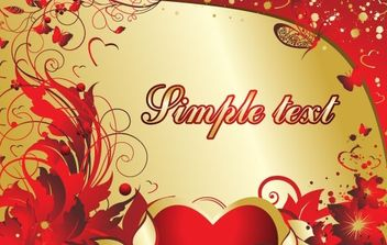 Card for Valentines - vector gratuit #169323