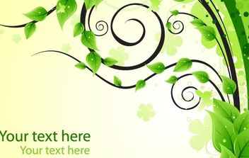 Design Element with Green Leaves - vector gratuit #169403