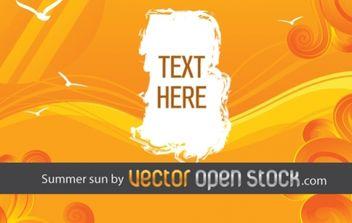 Summer sun - Free vector #169433