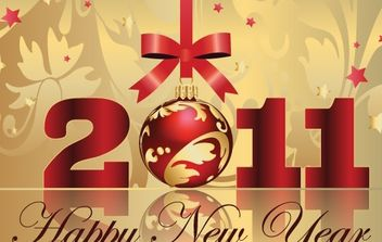 Happy New Year Vectors - vector gratuit #169453